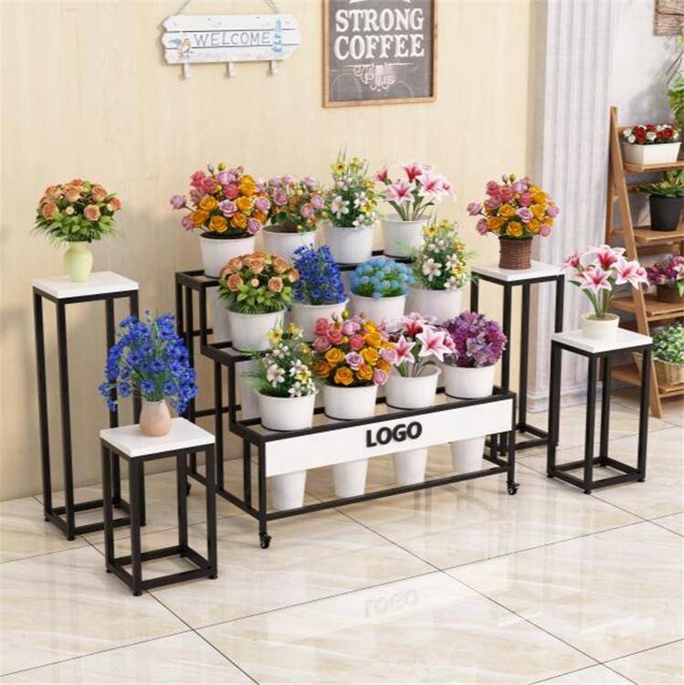 OEM Round bucket flower shop multi-layer ladder flower bucket flower stand