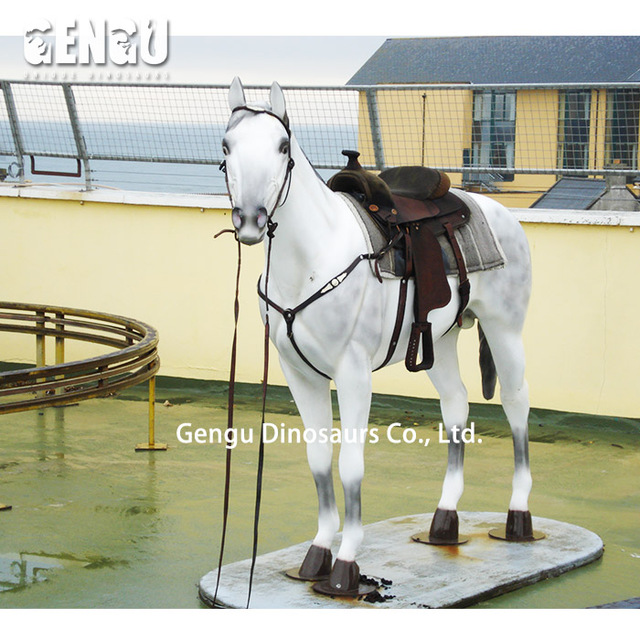 Zoo Park Decoration Life Size Animatronic Horse Model