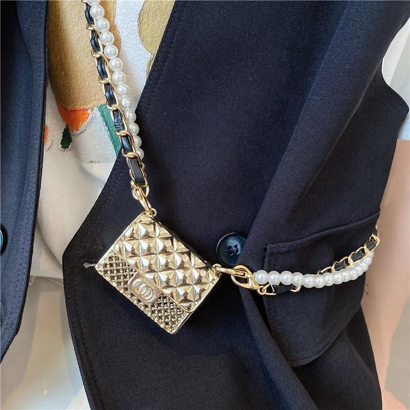 Mini Metal Hollow Diamond Small Bag Micro Mini Handbag Flap Satchel Bag Womens Mini Bags