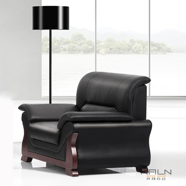 Model best price durable OEM factory direct sell customized green material general leather fabric set office sofa waiting room