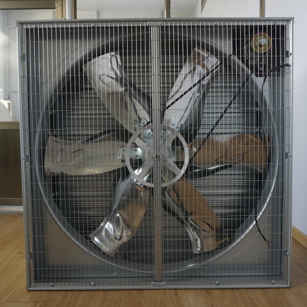 Big high speed Push pull industrial ventilation box fan type greenhouse poultry farm 50 inch exhaust fan