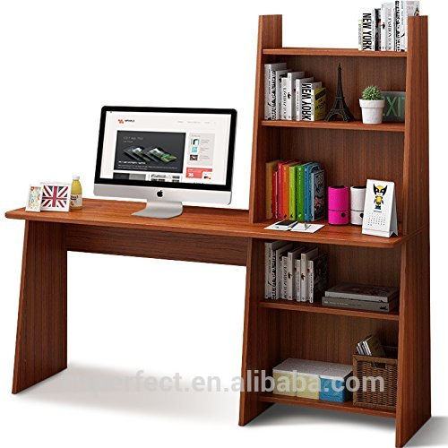 Wooden Writing Desk Study Table Workstation Home Office Adjustable Bookcase Design Computer Desk With Shelf Buy Office Desk Study Computer Table With Shelf Computer Desk Folding Computer Desk Gaming Computer Desk Study Writing