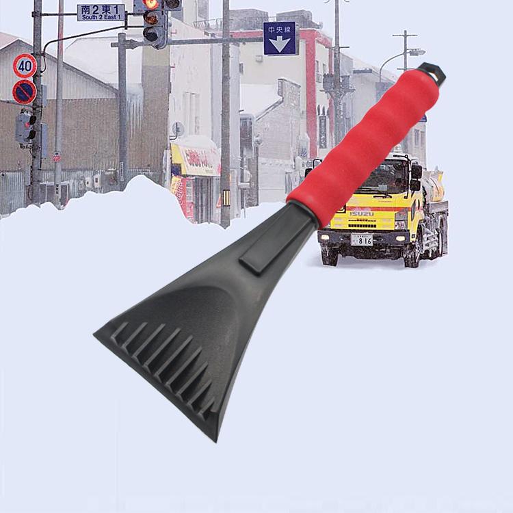 Cheap promotion car snow shovel plastic deicing shovel auto ice scraper