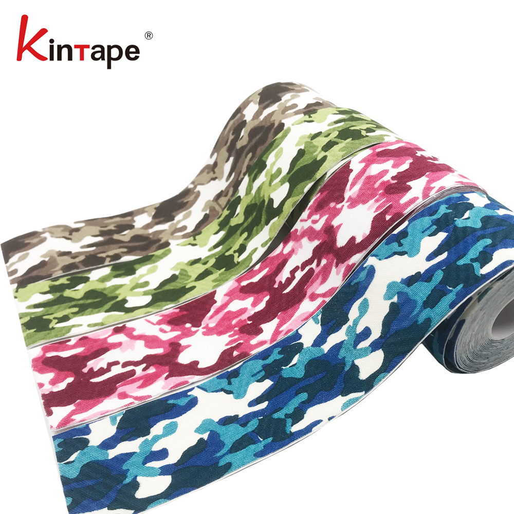 Health Care Product Hand Tear Colored Kinesiology Tape for Soft Tissues training / No Colored Bandage Scissors