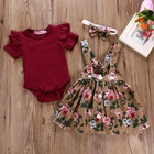 Baby Baby Girl Clothes Set Floral Skirt Newborn Kids Baby Girl Boutique Clothing New Born Baby Summer Dress Girls