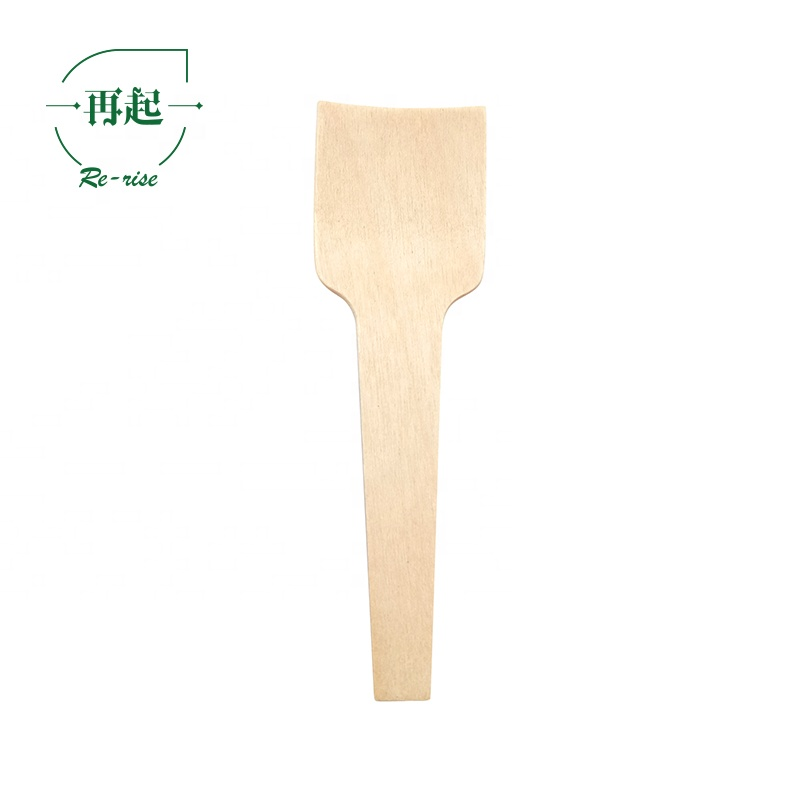 China Disposable 2020 Hot Square End 2.75 Inch Mini Wood Spoons Certified Eco Friendly Logo Available