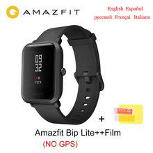 Глобальная версия Amazfit Bip lite Смарт-часы 30 м Водонепроницаемые умные часы монитор сердечного ритма 45 дней Срок службы батареи всегда на диспл...(Китай)