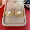 Color 3 Pearl Stud Earrings