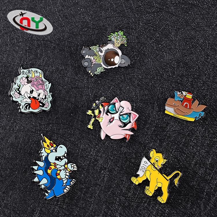 Custom Lapel pin Badge Rose Hard Enamel Pin