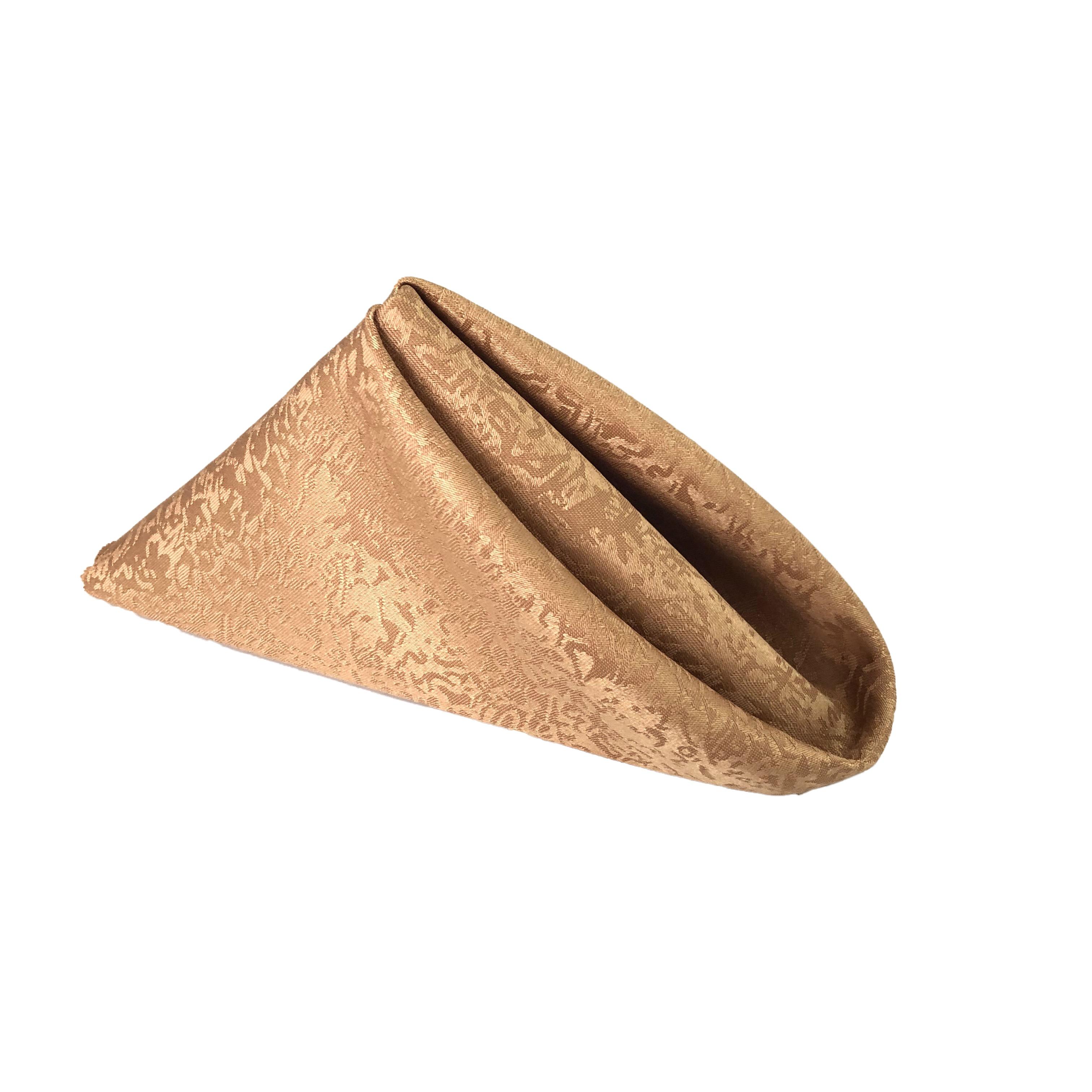 Durable Fabric Napkins Multi Color Gold Cloth Napkins for wedding