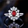 18k gold 0.45ct genuine ruby women's ring