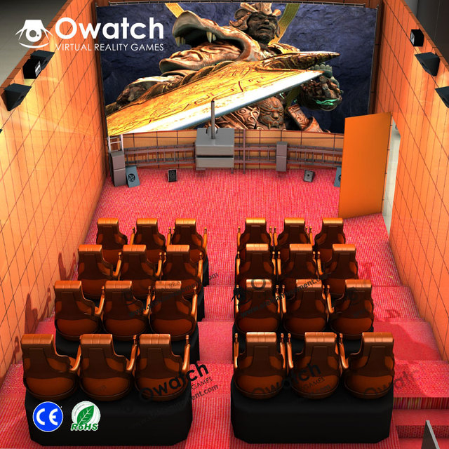 New business project interactive 7d cinema hydraulic 7d theater high technology 7d cinema with free 3d / 5d / 7d movies