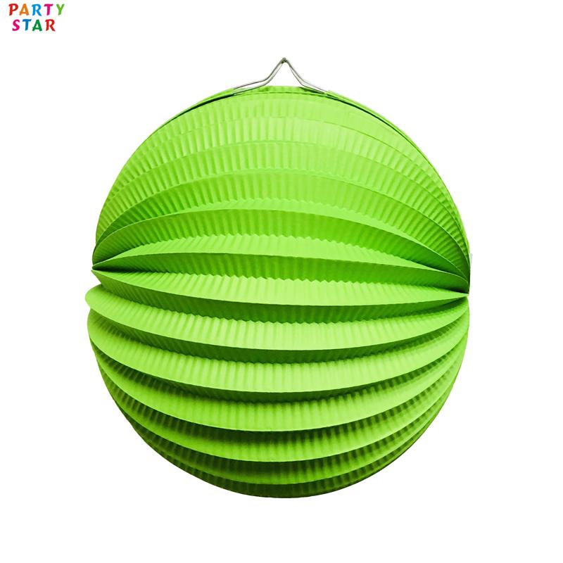 Новинка, Детские праздничные принадлежности, круглые фонарики оригами по индивидуальному заказу, Шариковая лампа в виде арбуза
