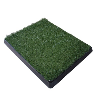 House indoor dog potty grass toilet 3 layers self flush replacement pet stand pee tray potty patch for cats dogs