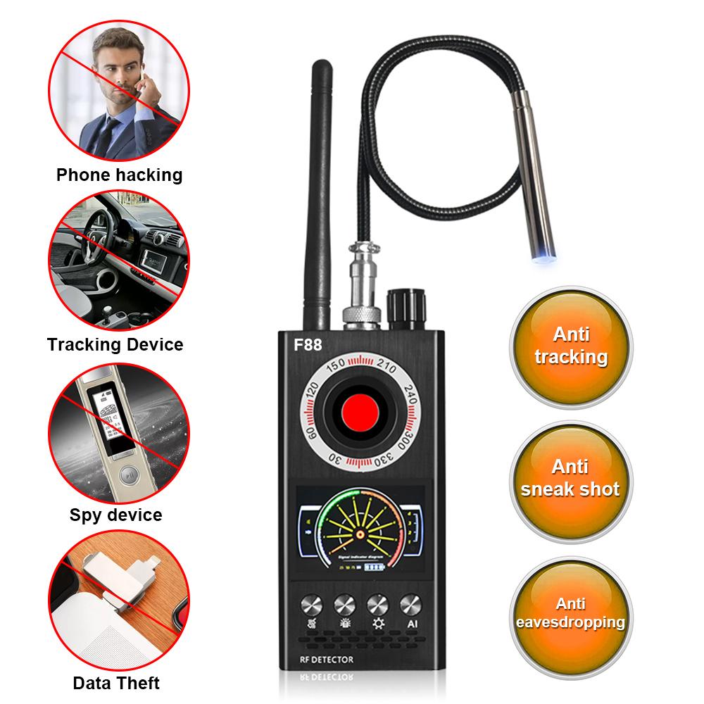 Anti-Spy Detector Camera Finder F88 Bug Detectors Upgrade RF Singal Hidden Speed Camera Detector