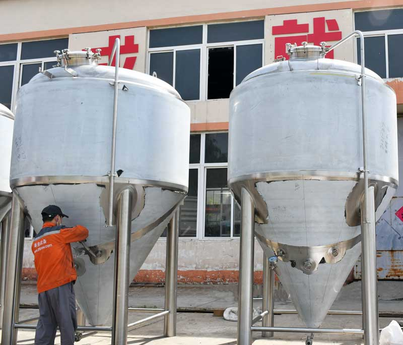 4000L Stainless Steel Beer Fermenter Conical Cooling Tank