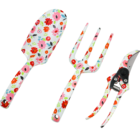 Tools Sets New Creative Iron Lady's Floral Printed 3 Pcs Gardening Hand Tools Gardening Tools Gift Sets Garden Cultivator