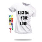 Quality T Shirts Dry Fit Tshirt High Quality Cheap Blank Men's 100% Polyester Dry Fit Quick-drying Unisex T Shirts Sublimation Custom Printing With Logo T-shirt