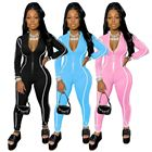 Rompers 2 Piece Set 2021 Sport Gym Skinny Colorful 1 Piece Fitness Jumpsuit Long Sleeve Bodysuits Women Rompers Jumpsuits
