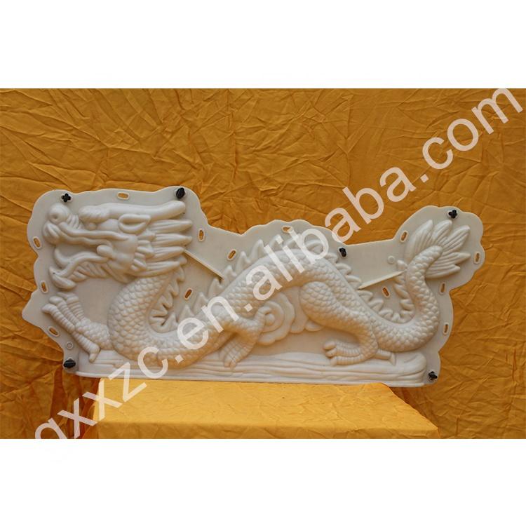 Wall decoration plastic dragon mold for concrete