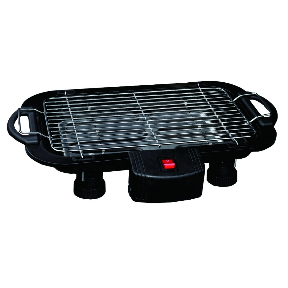 Electric BBQ Grill Electric Barbecue Grill Indoor Tabletop With Swith And Grill Height Adjustable