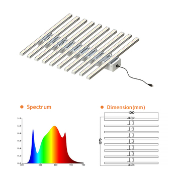 10 Bars LED Grow Light 1000w For Medicinal Plants Commercial Industry Growth