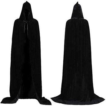 2020 Halloween Death Cape Ghost Cloak Show Costume Big Black Cloak Cosplay costume For Adult