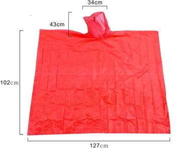 Adult and Child Poncho One-time emergency rain cloak for men, women, teenagers and children. Drawstring hood, super thick
