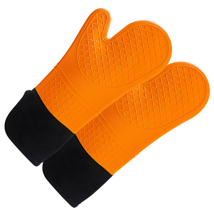 Silicone Oven Mitts and Pot Holders Heavy Duty Cooking Gloves Kitchen Counter Safe Trivet Mats Advanced Heat Resistance Non Slip