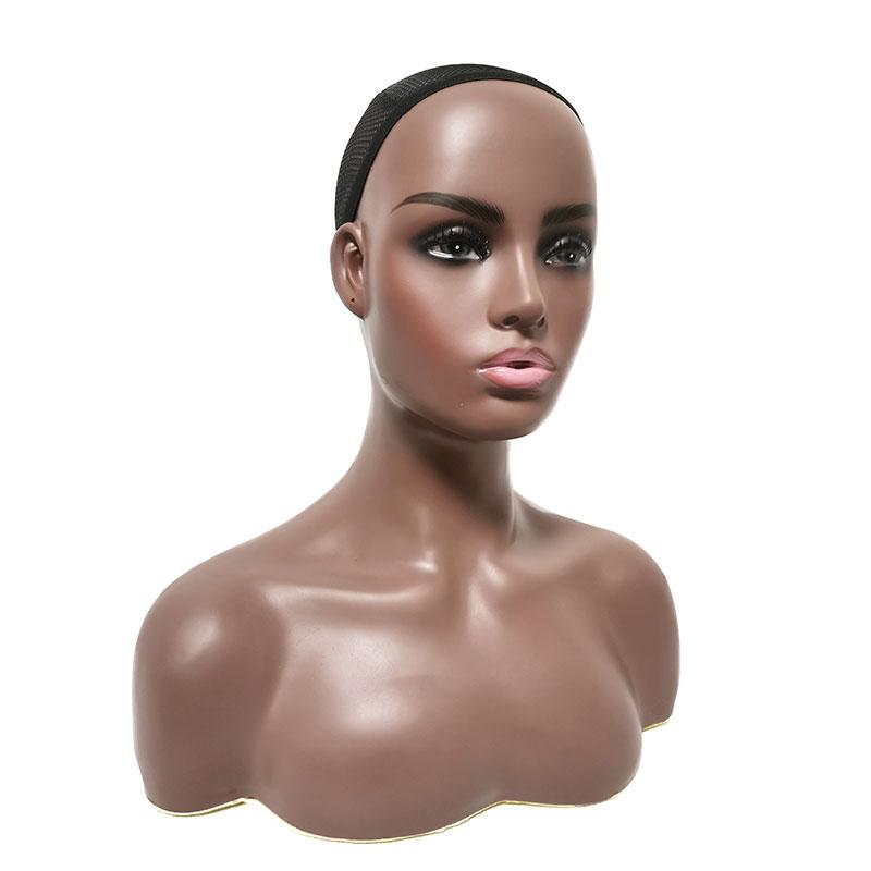Манекен с головой темной кожи, манекен для тренировок, парик, реалистичные манекены, женская голова с плечами