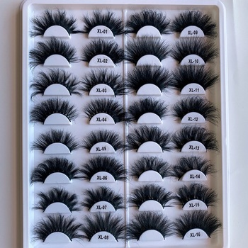 Vendor Creat Your Own Brand 100% Real Fur 5D Mink 25Mm Eyelashes