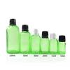 Transparent grün glas dropper flasche
