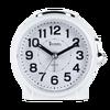 White table alarm clock