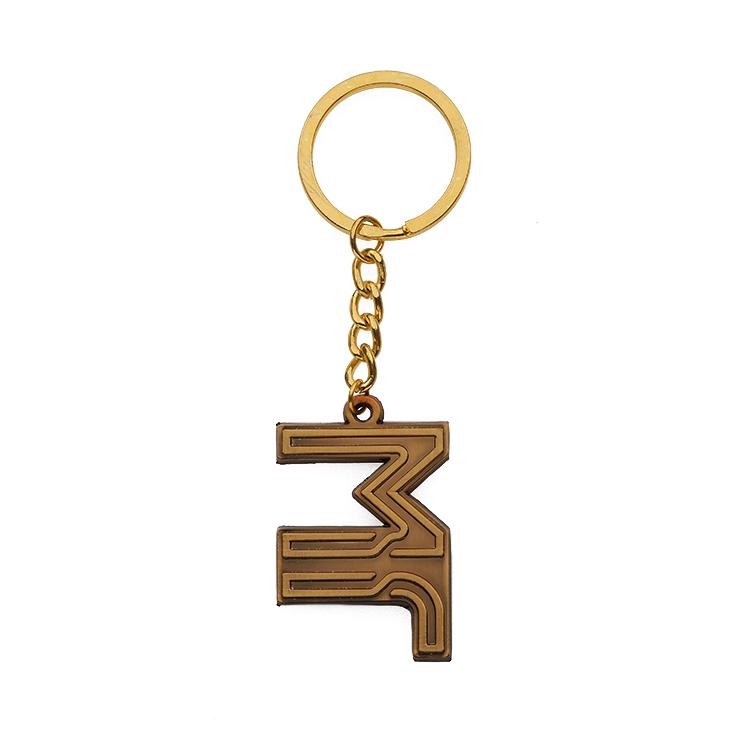 Изготовленный на заказ металлический логотип брелок с надписью