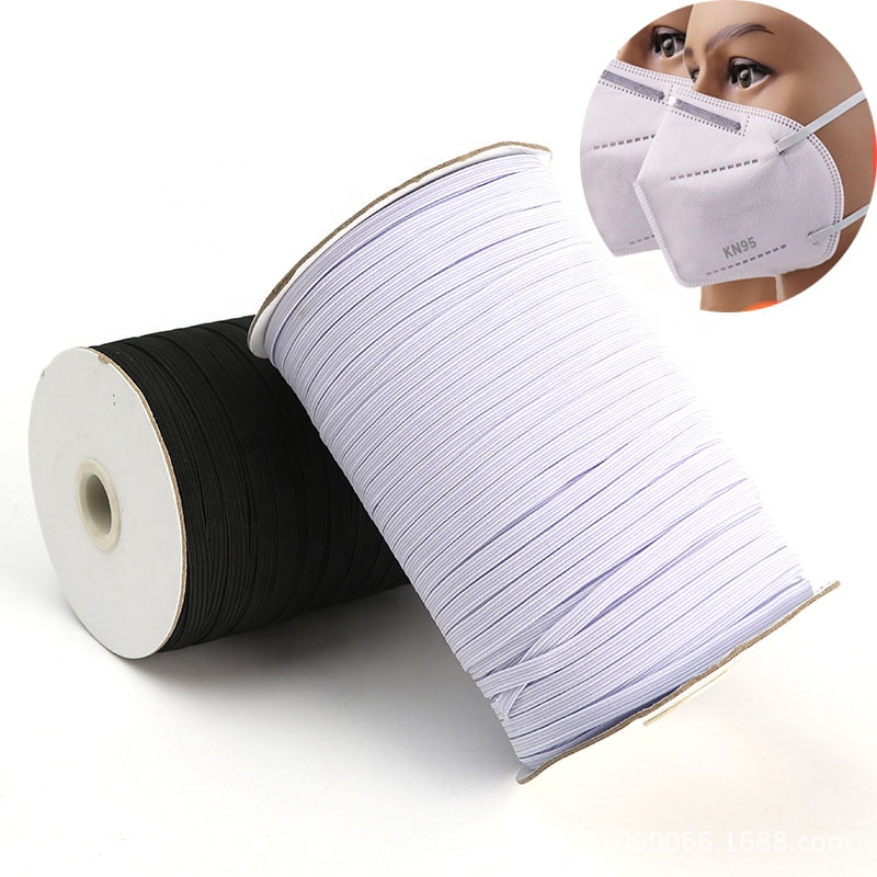 QUALITY White ELASTIC Flat Cord 3mm 5mm 6mm Band Sewing For Making Face Masks