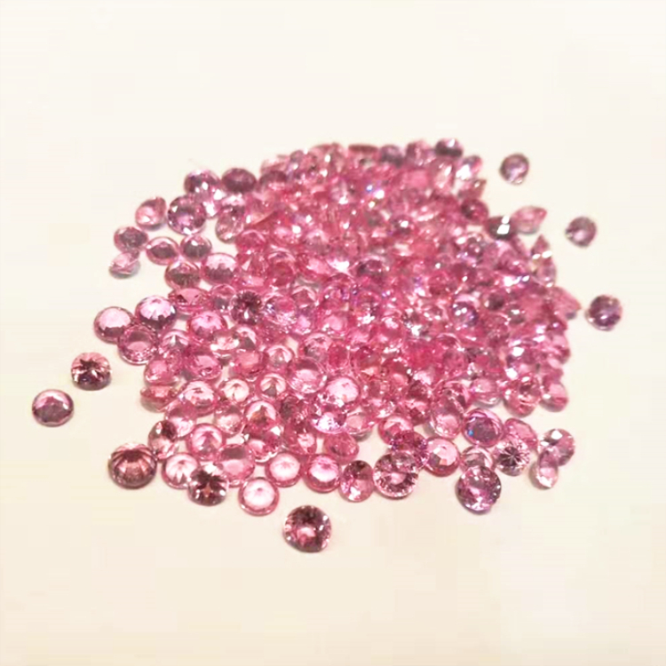 SGARIT 5A quality Precious gems jewelry factory Wholesale 0.8-4mm Round faceted cutting Natural Pink Sapphire Loose Gemstone
