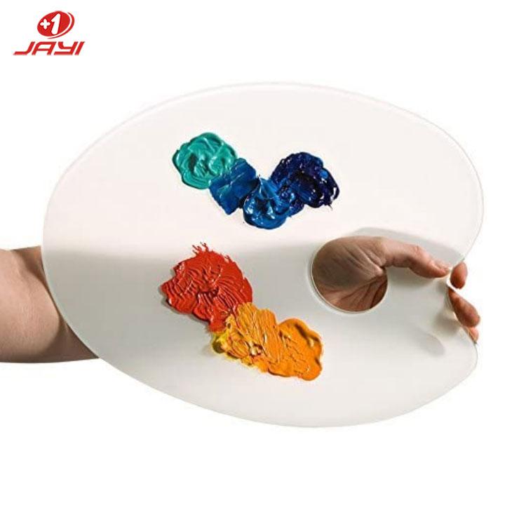Акриловая палитра для смешивания цветов для макияжа с лопаткой, смешивание основы, цвета губ, тени для век, палитра для дизайна ногтей, косметический инструмент