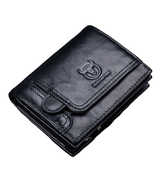 Leather Multifunctional Business Card Holder Small Driver's License Coin Purse Photo Card Holder