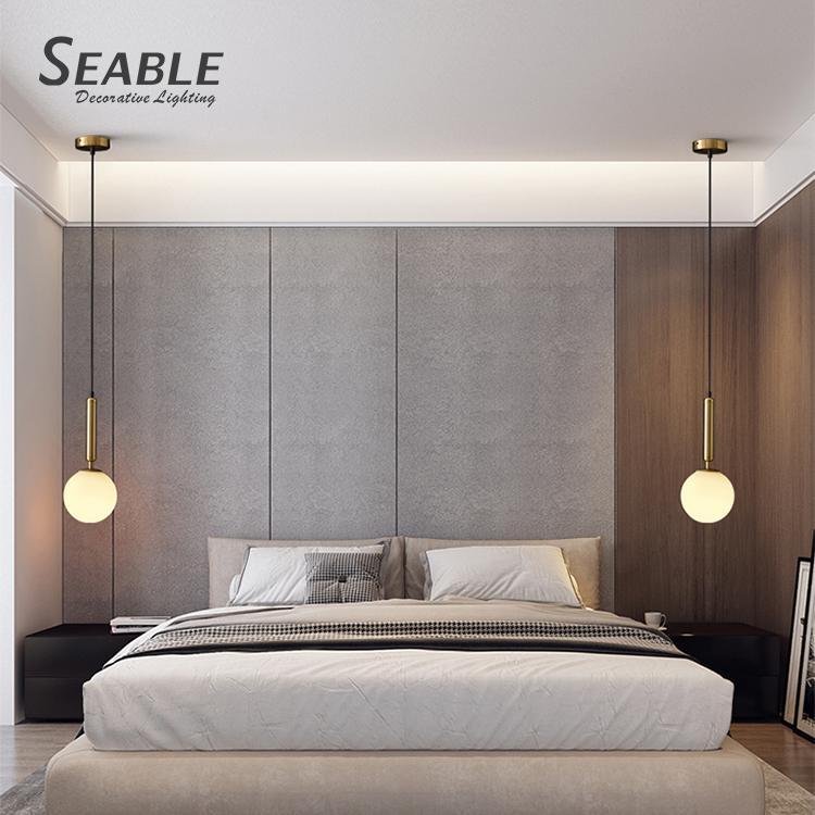 NEWORB Zhongshan manufacturer price bedroom modern creative decoration glass led ceiling chandelier