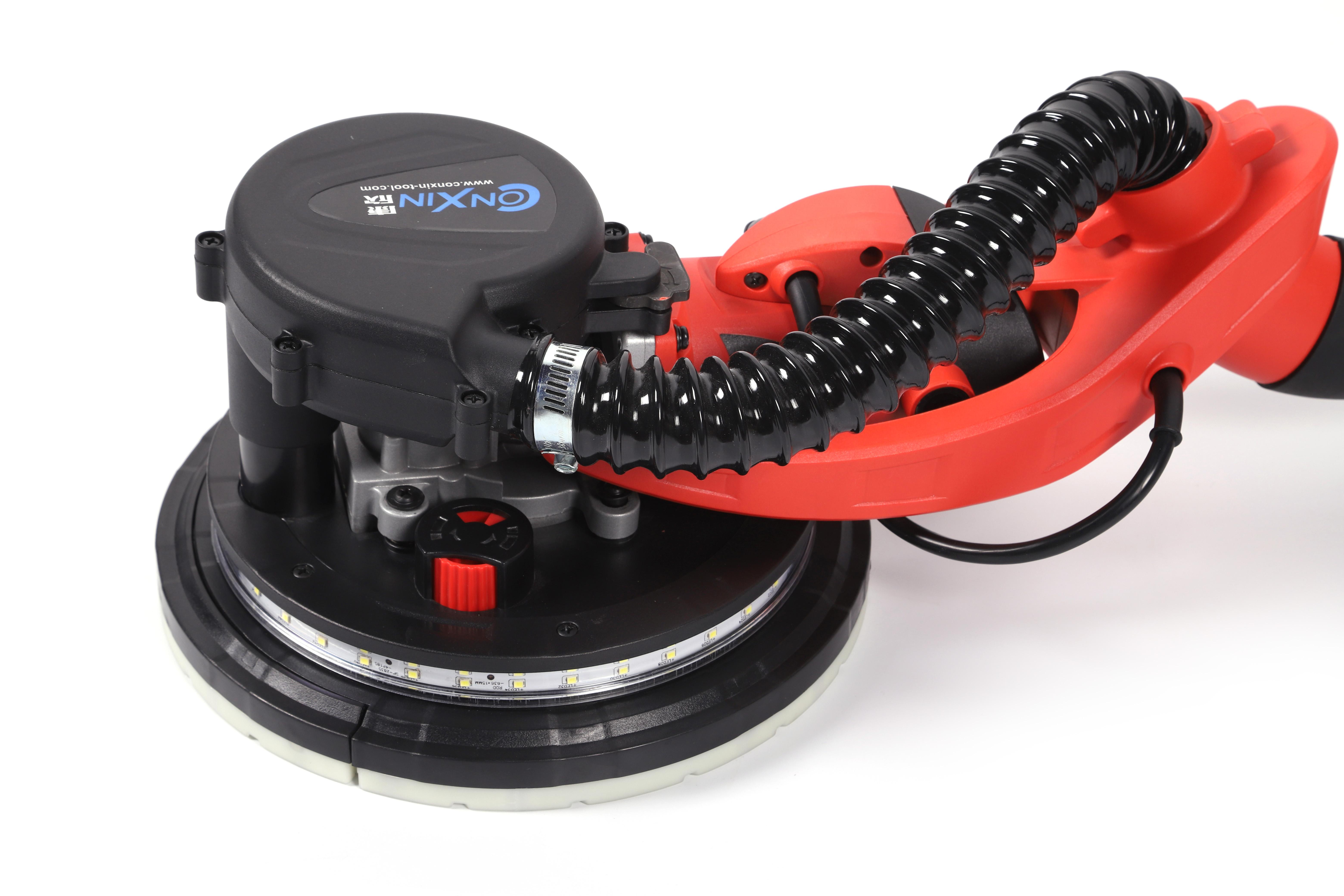 Лидер продаж, электрический шлифовальный станок для гипсокартона CONXIN Amazon CX2301 со светодиодной подсветкой, 225 мм