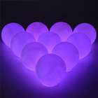 Rgb Led Led Light Led Rgb 6pcs/pack 3-inch RGB LED Inflatable Ball Light Button IP67 Waterproof RGB Floating Light