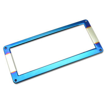 Thailand Vietnam Laos General Stainless Steel License Plate Frame Grilled Blue License Plate Frame License Plate Frame