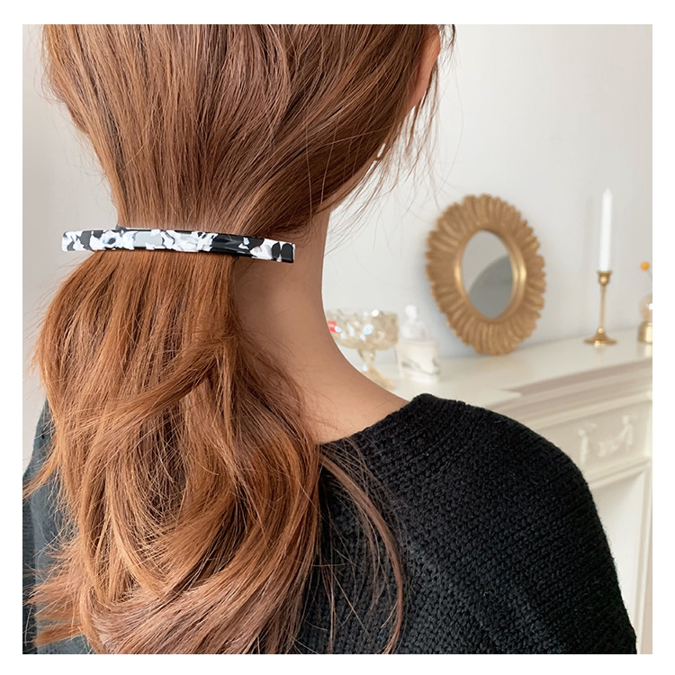 JUHU spots temperament tortoiseshell acrylic clip rectangle classic all-match hairpin wholesale for women acetate hair claw