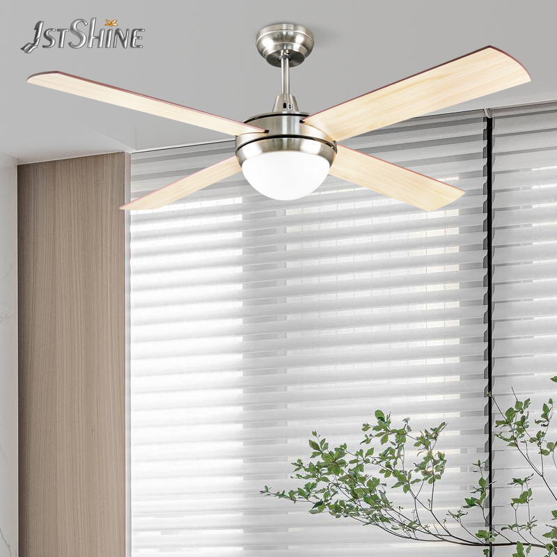 1stshine новый дизайн, лезвие MDF, двигатель переменного тока, декоративные потолочные вентиляторы с подсветкой