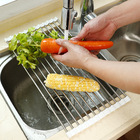 Rack Drain Dropshipping Over The Sink Multipurpose Roll-Up Dish Drying Rack Kitchen Drain Sink Rack Stainless Steel