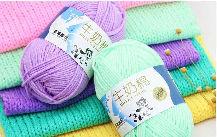 5 strand 50g /Ball 92 Colors Soft Worsted Knitting Baby Yarn Thick Milk Cotton For Crochet Yarn