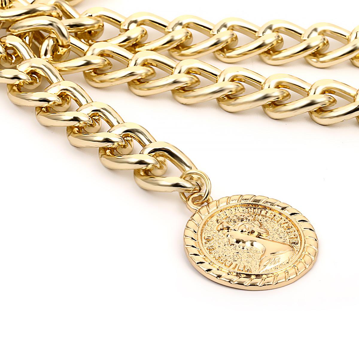 Женский ремень с цепочкой Artilady, модный пояс золотого цвета, аксессуары для женщин