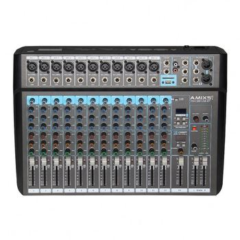 Amixs Professional mini 12 Channels audio mixer usb with sound card bt