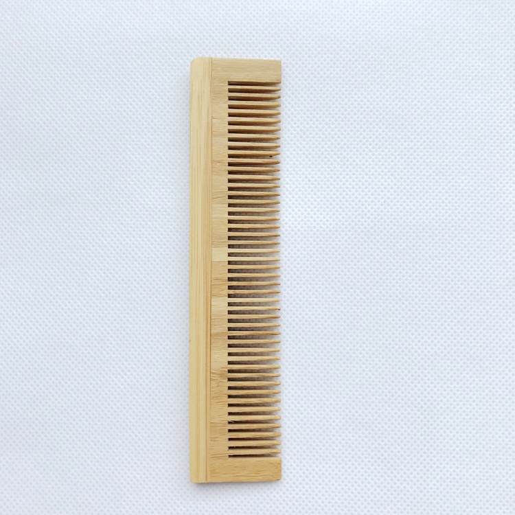 Customized logo ecp-friendly reusable biodegradable home spa travel luxury hotel bamboo comb