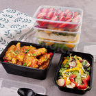 large clear plastic disposable takeaway storage boxes & bins microwave housewares food containers for frozen wholesale importers